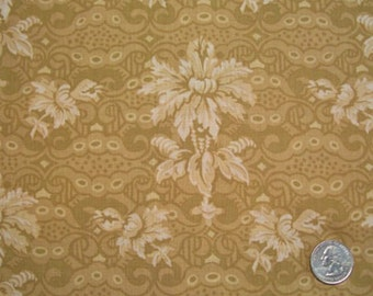 CLEARANCE - Benartex Fabric, Gothic Grace, Gold Tonal Fabric, Kaye England, Designer Cotton Quilt Fabric, Quilting Fabric (K)