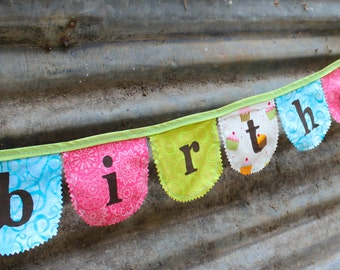 Happy Birthday banner / bunting - Party decor - Baby's 1st birthday