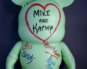 "Custom Order Wedding 9"" Vinylmation Guest Book for Christina Hernandez"