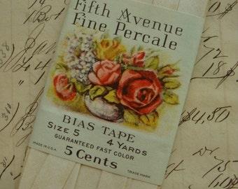 Antique Rare 1930s Gorgeous Bias Tape Trim in Original Package