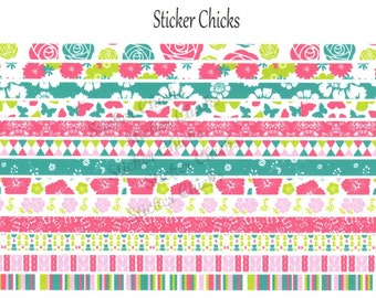 Floral Washi Style Planner Stickers
