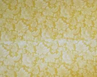 Yellow Leaf Tonal Fabric - RJR - Jasmine