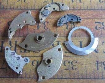 Vintage metal pocket Watch plates   - Steampunk - Scrapbooking t2