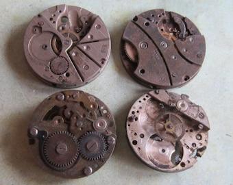 Featured - Steampunk supplies - Watch movements - Vintage Antique Watch movements Steampunk - Scrapbooking i7