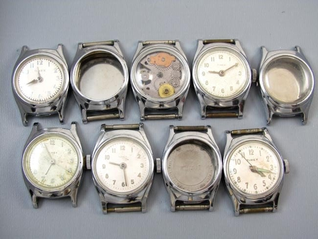 FOR PARTS 20 womens girls ladies vintage wrist watch cases for parts supply destash steampunk assemblage repurpose craft supply jewelry