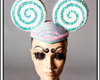 Sweet Love…. Blue Lollypop Mouse Ears Headdress