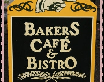 SALE!  antique style Bakers Bistro sign    vintage Shabby victorian kitchen decor  advertising sign