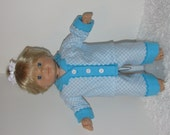 Turquoise Checked Flannel Pajamas, Fits 15 Inch American Girl Bitty Dolls