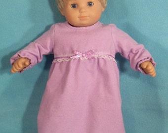 15 inch Doll Lilac Nightgown