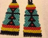 Tribal Seed Bead Matte Earrings