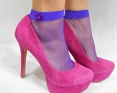 Little Bow Peeps socks in Purple