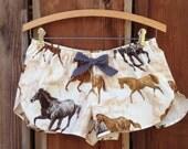 Pajama shorts horse print handmade size SX womens- size 16 girls