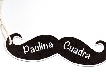 Mustache Gift Tag
