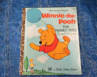 Vintage Little Golden Book--Winnie the Pooh The Honey Tree--Walt Disney--A. A. Milne--Golden Press--1975--Bedtime storybook--Classic