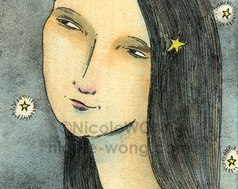 Original ACEO Painting -- Starlight