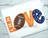 Machine Embroidery Design Applique Love Football Beaded INSTANT DOWNLOAD