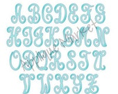 Machine Embroidery Design Scroll Monogram Sketch Fill Alpha INSTANT DOWNLOAD