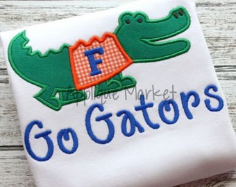 Machine Embroidery Design Applique Gator with Sweater INSTANT DOWNLOAD