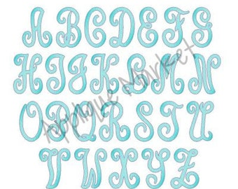 Machine Embroidery Design Scroll Monogram Sketch Fill Alpha INSTANT DOWNLOAD