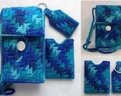 5-1/2 in Pocket Bag - 3 pc Set - Bag, key ring, credit card holder