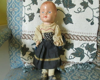 PRICE REDUCTION Vintage Composition Doll in Native Costume