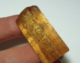 IMPERIAL TOPAZ 20 Gram Large Natural Double Terminated Collector Crystal From Ouro Preto Brazil Sale