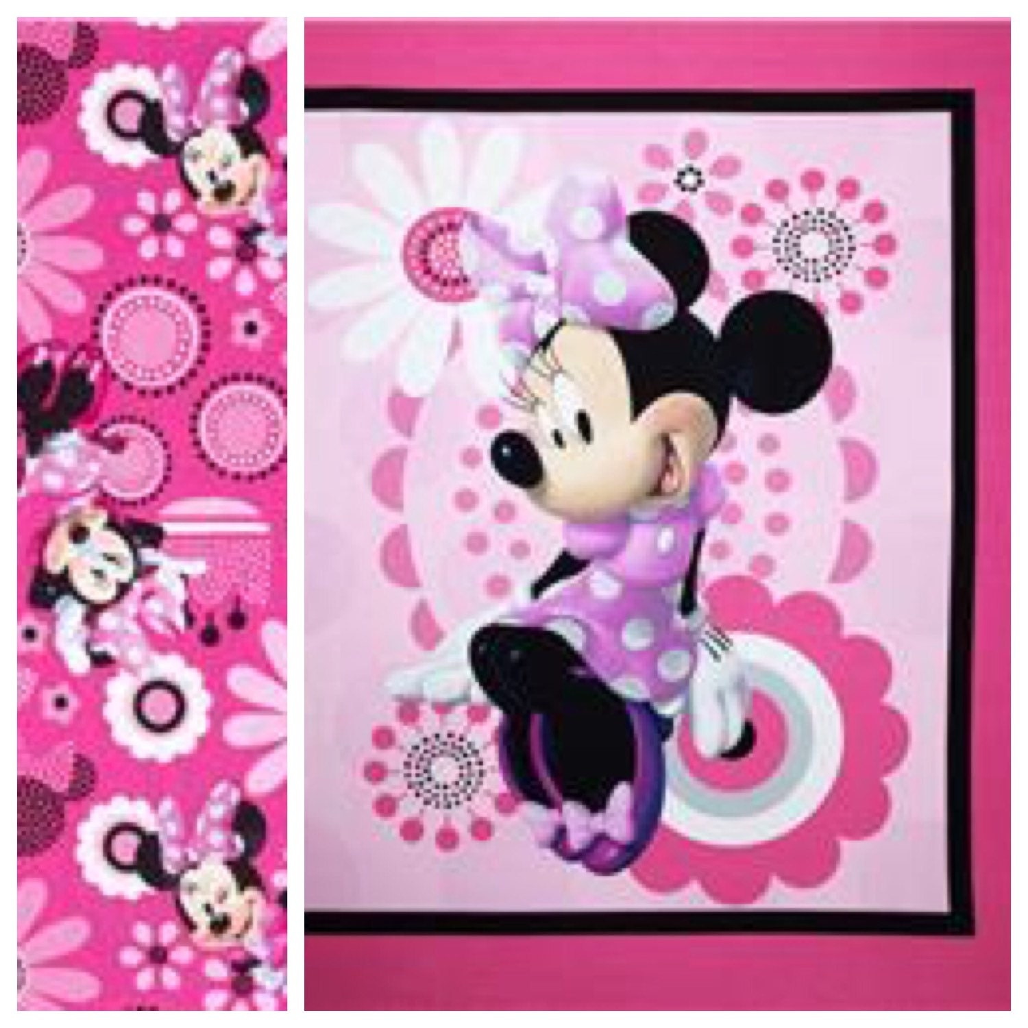 Minnie mouse boutique crib mini crib toddler nursery girl - Mini mouse bedroom ...