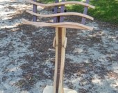 """The """"Swan"""" Music Stand In Solid Hickory and Walnut"""