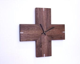 modern Walnut plus clock