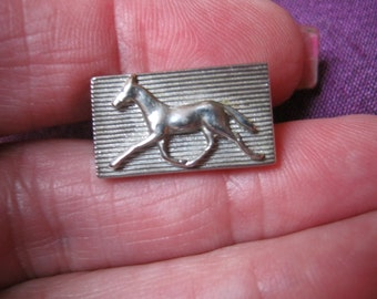 Vintage silvertone tie clip, horse tie clip, equestrian tie clip, horse lover's tie clasp