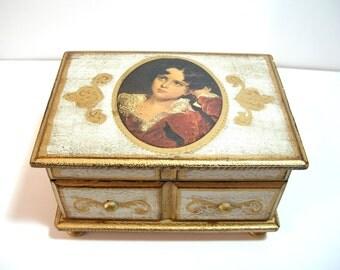 Florentine Style Musical Jewelry Box