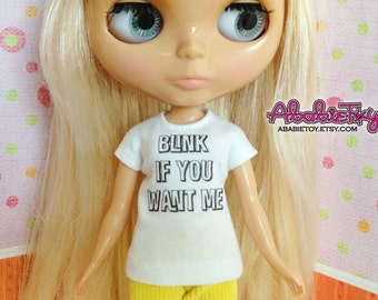 New - White Cotton Jersey T-Shirt for Blythe - Blink