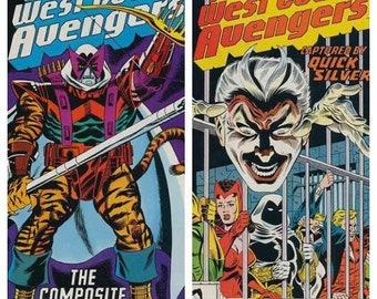 Issues 30 and 34 West Coast Avengers in VF-NM  Condition