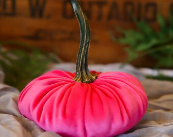 Scented Velvet Pumpkin, FASHION HOT PINK