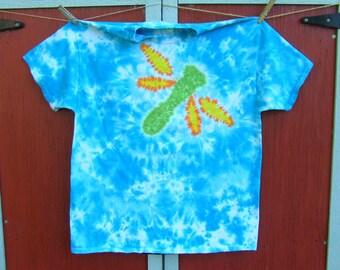 XL Dragonfly Tie Dye T-shirt - Ready to Ship