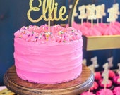 personalized cake topper one Glitter name or word up to 8 letters in length in any color glitter