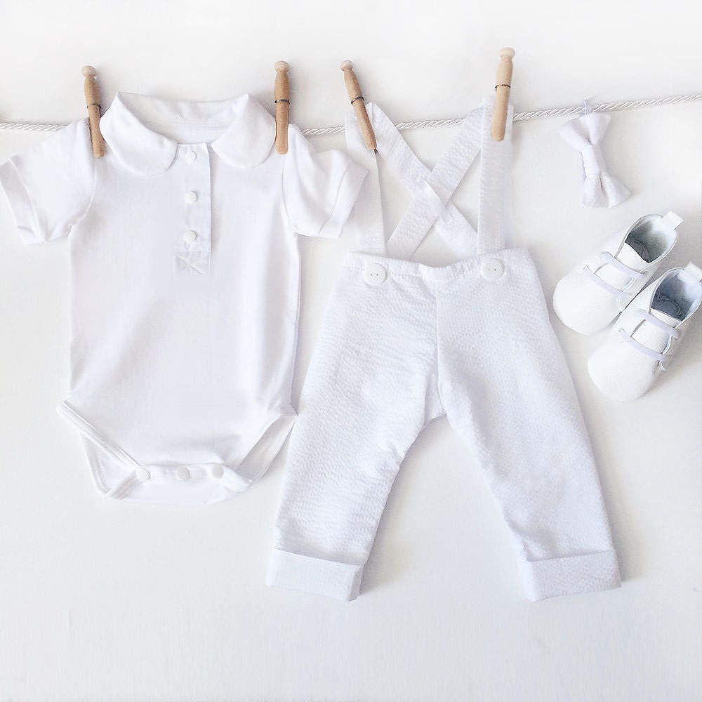 baby boy christening outfit 4 piece white baptism outfit