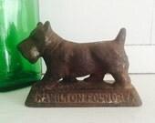 Vintage Metal Cast Iron Terrier Dog Figurine