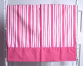 2 Vintage Pillowcases, 1970s Pink Striped Pillowcases, Set of Two Pillowcases