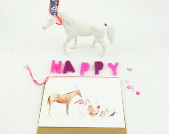 Party Animals Blank Card
