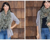 Airy Fringed Shawl Wrap Scarf Earth Tones, Rainbow, or Sky Colors
