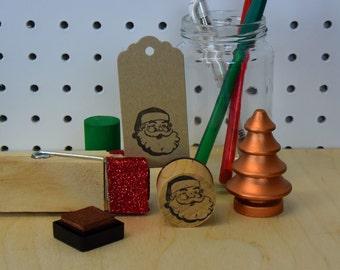 Retro Santa Stamp - Father Christmas - Saint Nicholas - Christmas