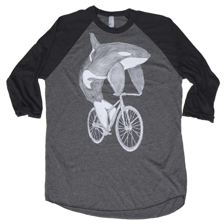 herren baseball t shirt orca auf einem von darkcycleclothing