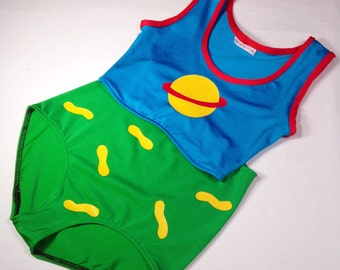 Chuckie Finster Halloween Costume // RugRats Chuckie Swim Suit