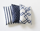 White and Navy Lavender Bags, Polka Dots, Stripes, & Geometric Modern Decor Scented Drawer Sachets