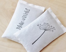 Lavender Sachets, Dandelion / Make a Wish, Moth Repellent Scented Drawer Sachets