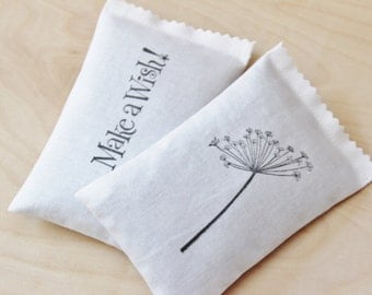 Lavender Sachets - Dandelion - Make a Wish - Moth Repellent - Scented Drawer Sachets
