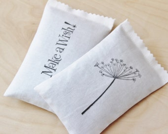 Dandelion Lavender Sachets - Woman Birthday Gift - Organic Scented Drawer Sachets - Whimsical Decor