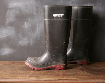 Rubber Boots La Cross Vintage Made in the US Mens Size 3 Womens 6-7 From Nowvintage on Etsy