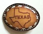 Leather Texas Beltbuckle